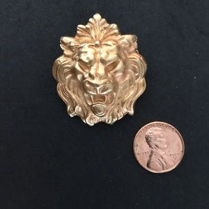 Anne Klein lion brooch